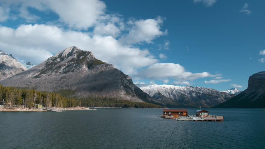 Lake Minnewanka in Banff National Park Canada.  Located near the town of Banff, Alberta