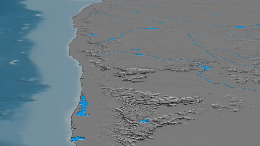 Glide over Western Ghats mountain range - masks. Elevation map. High resolution ASTER GDEM data textured