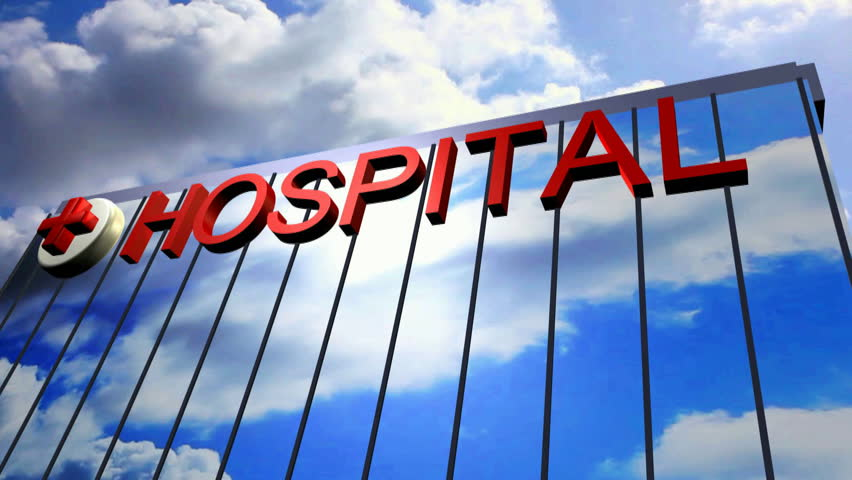 Ambulance helicopter landing the top surface of the Hospital Full High Definition Video