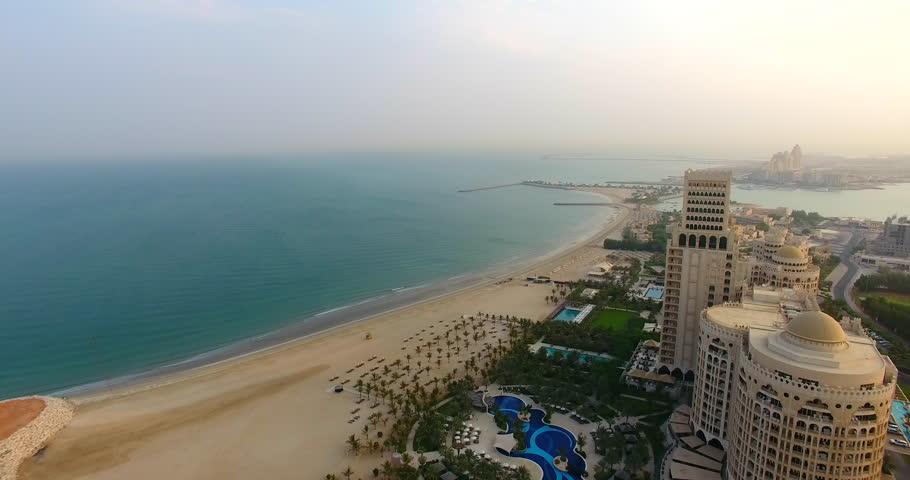 Luxury Beach Panning shot