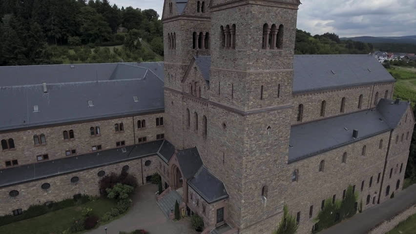 Abbey St. Hildegard in the vineyard, Benedictine nuns, Diocese of Limburg, Eibingen near Rüdesheim, Hesse, Germany. Jul 2016