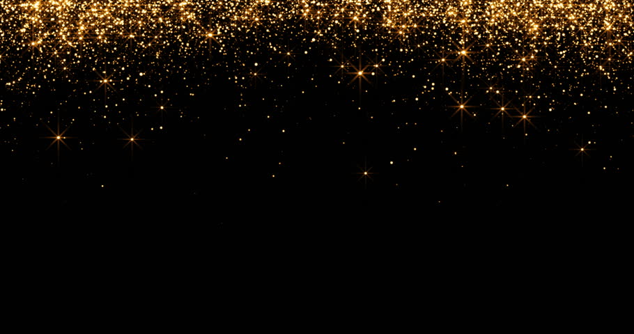 Golden Sparkle With Black Background For Holiday ...