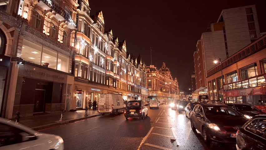 Beautiful Street Decoration In London At Christmas Time - LONDON ...