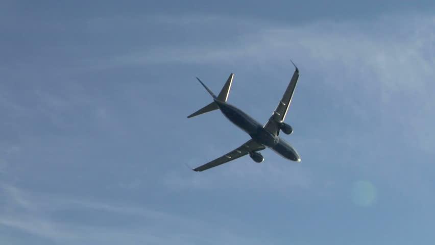 Aircraft flying away