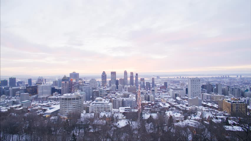 Montreal winter sunrise time lapse | Shutterstock HD Video #22885003