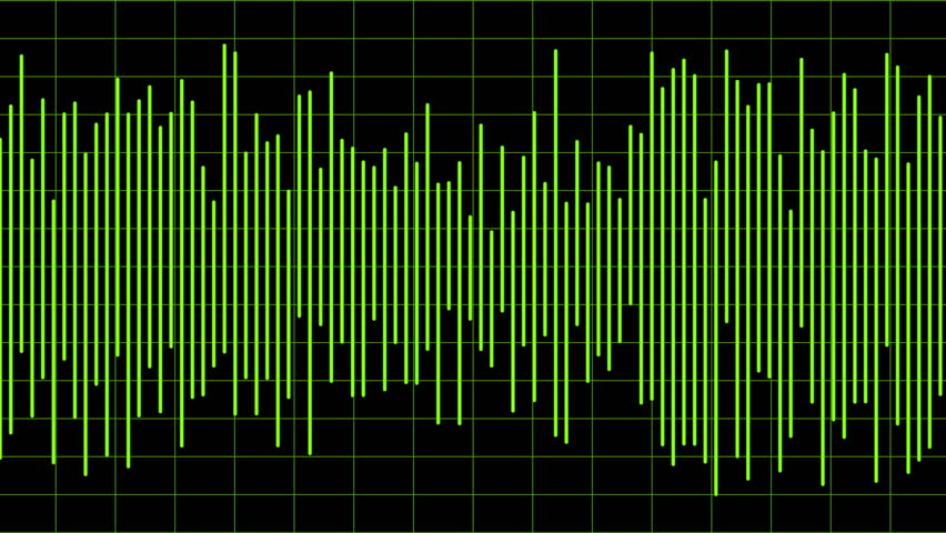 Digital audio waveform animation as motion graphic for sound recording equipment
