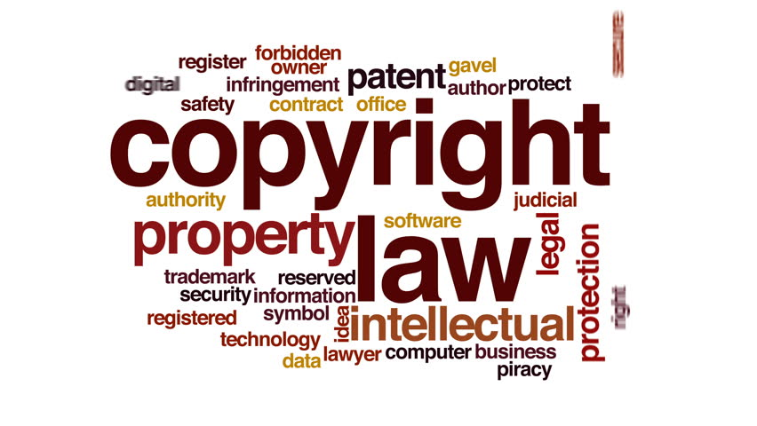 Stock Video Of Copyright Law Animated Word Cloud Text 23017153