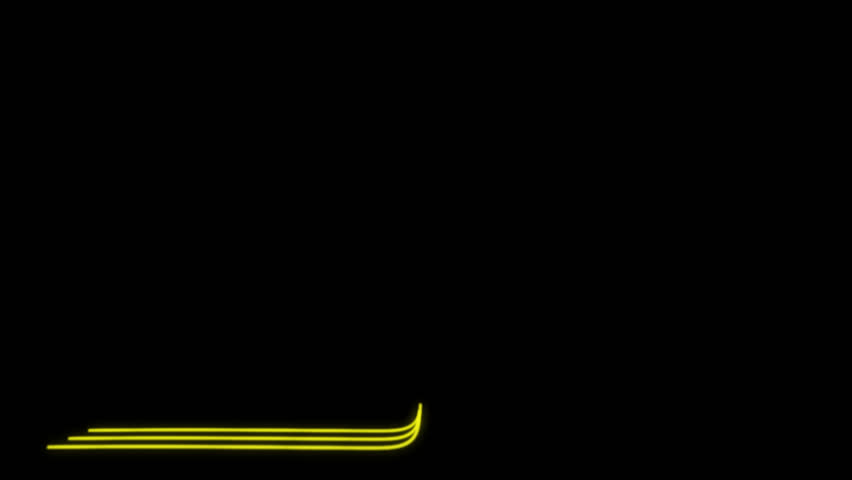 Neon Lines Lower Third 26 + Alpha Channel | Shutterstock HD Video #23041633