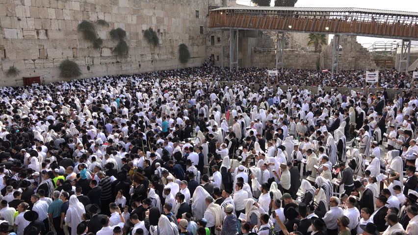 Jerusalem israel 19 october 2016 overhead view of massive jerusalem israel 19 october 2016 israel religion and faith huge crowds of sciox Image collections