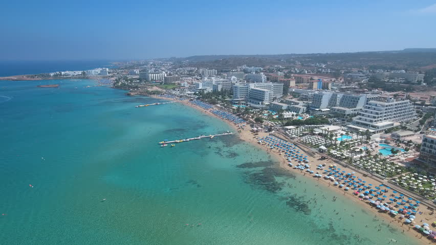 The island of Cyprus. Protaras. Aerial view