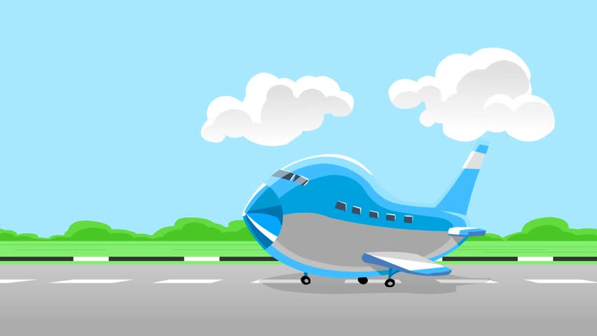 Stock Video Of Airplane Take Off Animation Cartoon 3