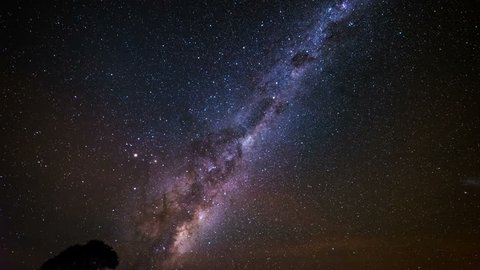 A 4k time lapse of the Milky Way with the earth's rotation viewed from the southern hemisphere in Australia.