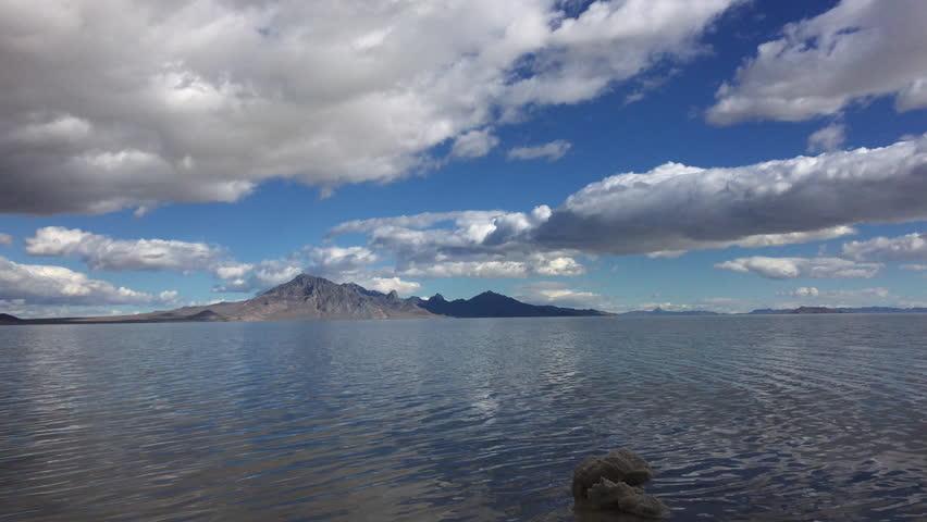 Bonneville Salt Flats covered in water Utah