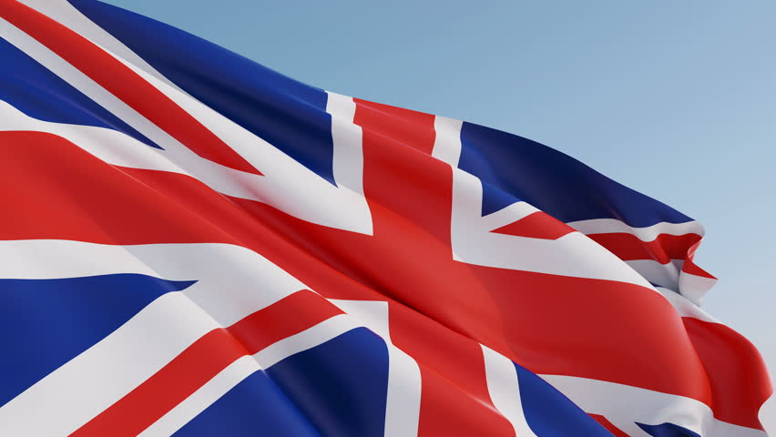 Photorealistic animation of the waving Flag of the United Kingdom Of Great Britain and Northern Ireland (Union Jack). Seamless Loop. 4K resolution. Another flags available - check my profile.