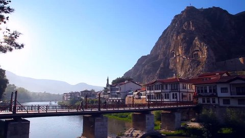 Day Timelapse, Traditional Ottoman Anatolian Village, Amasya in Turkey
