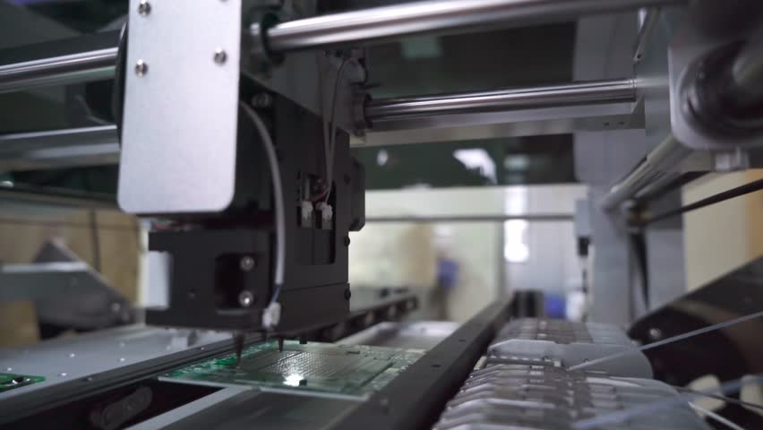 Microchip production factory. Technological process. Assembling the board   Shutterstock HD Video #23313415