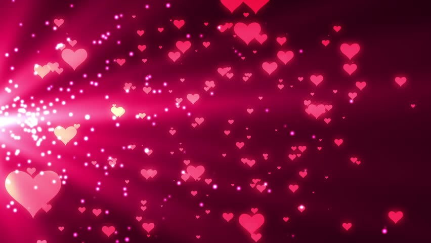 valentines day gold loopable abstract stock footage video