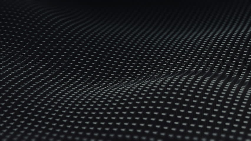 Abstract Surface Wave  3d Loopable Animation 4k   4K stock footage clip. Metallic Grid Motion Background  Dark Metal Background With