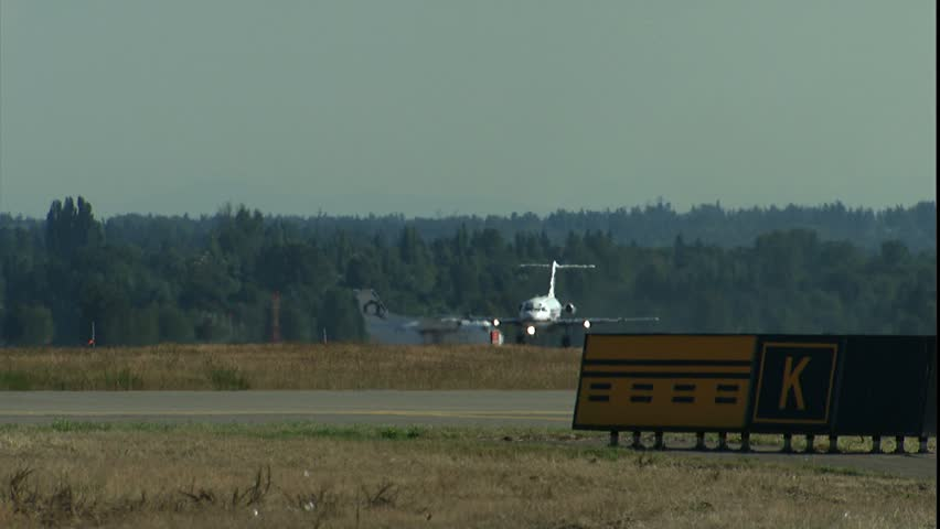 SEATTLE, WA - CIRCA 2001: MD80 takeoff. - HD stock video clip