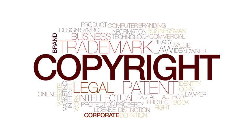 Copyright animated word cloud, text design animation. Kinetic typography. | Shutterstock HD Video #23492203
