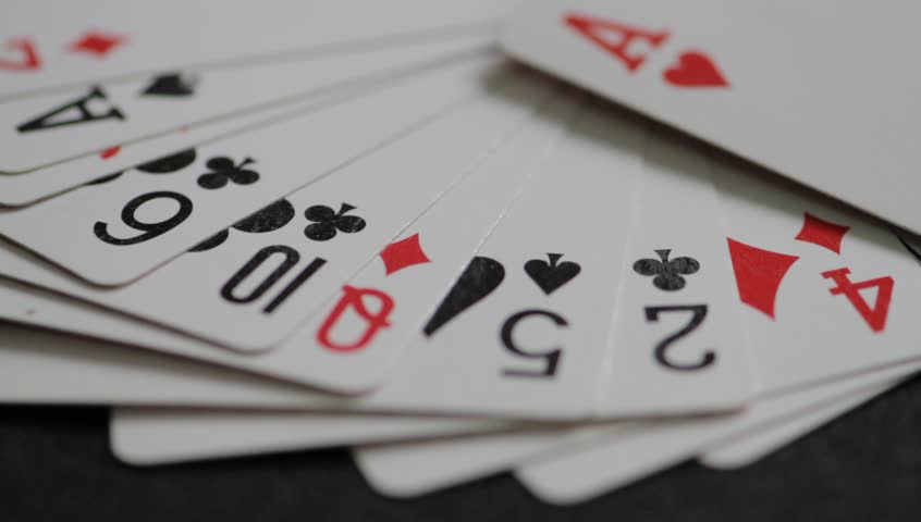 Random Play Casino Cards Games Texture on the Table  | Shutterstock HD Video #23584906