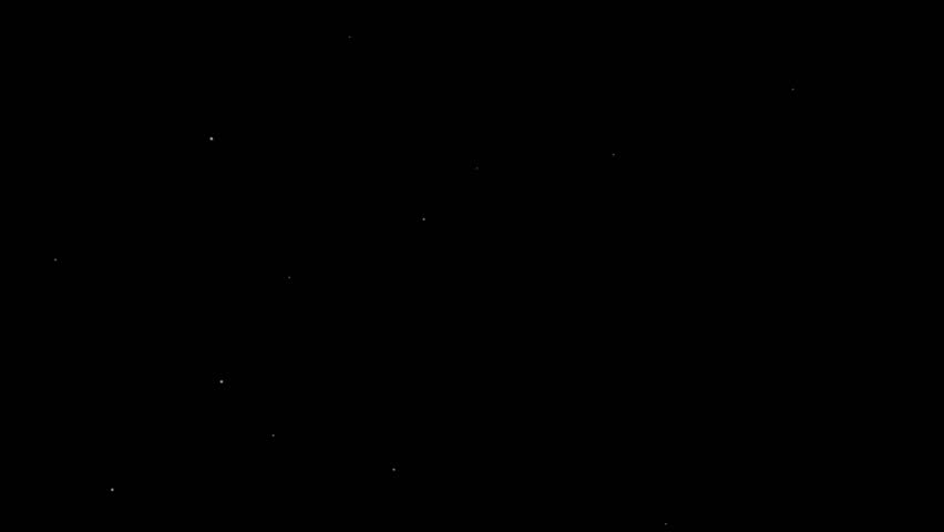 Space Animation 03 (HD) Flying Comets - with alpha | Shutterstock HD Video #235873