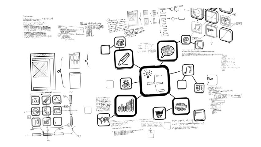 Mobile App Development Whiteboard Scribblings | Shutterstock HD Video #2360615