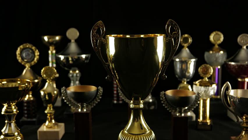 "Trophy prize award, Side tracking ""Wide"", Winner concept"