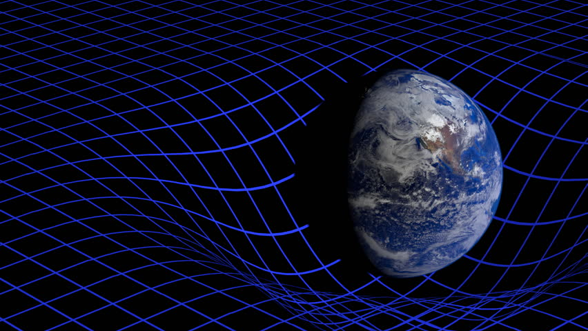 Physics einstein moving formulas stock footage video for Space time curvature
