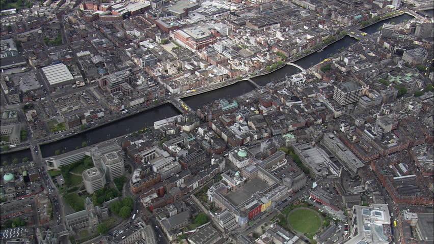 Liffey River To Dublin Harbour | Shutterstock HD Video #23668603