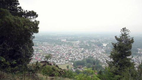 A beautiful view from the top of the hill,an aerial view of Srinagar city including parts of Dal lake in Srinagar in Kashmir/Dal Lake/Kashmir Valley