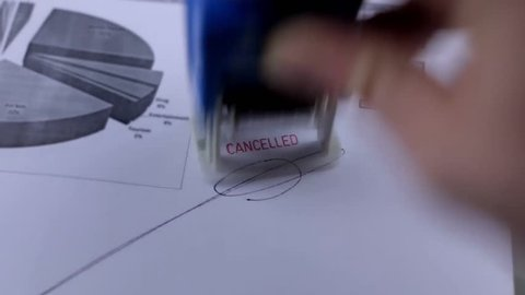 Cancelled stamp stamping document stamp