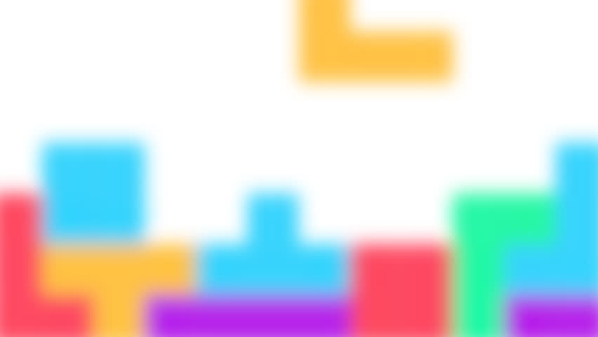 Pixel art retro arcade game colorful animated blur background. HD motion graphic.