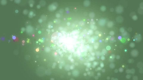 Elegant green abstract with snowflakes. Christmas animated background. Background white glitter - winter theme. Green Screen. Seamless loop. VJ Seamless loop.