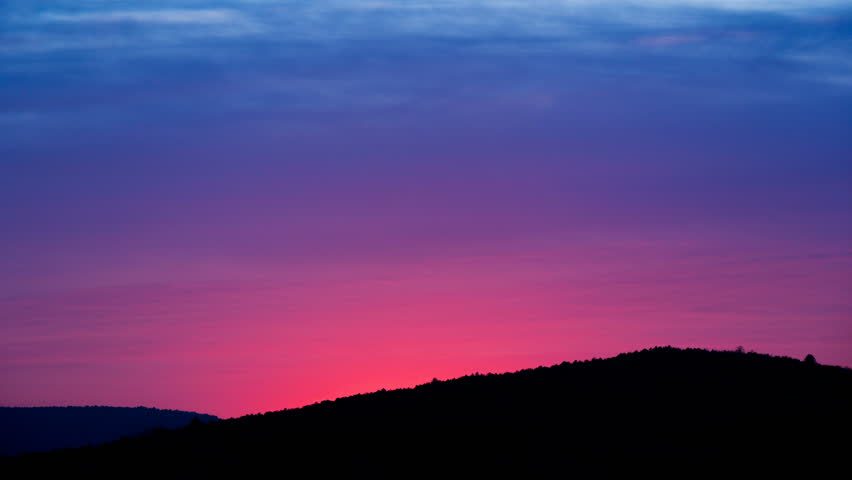 Pink Sunset In Mountains Purple Stock Footage Video 100