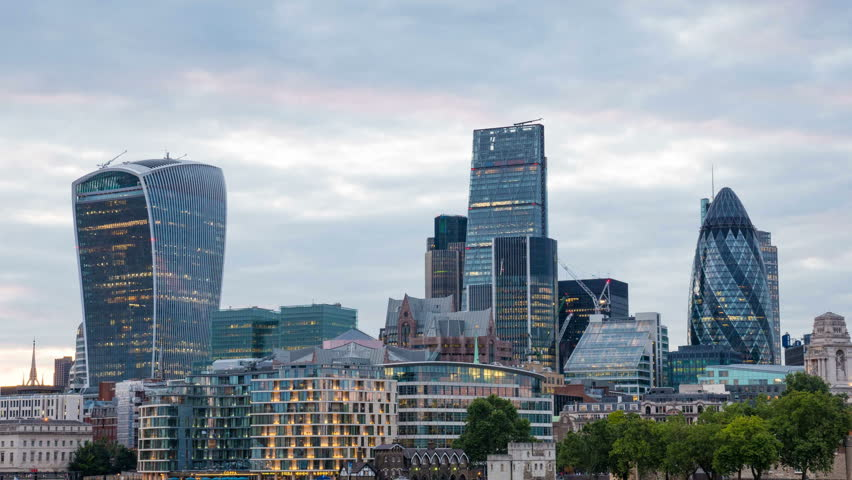 City of London on Thames.   Shutterstock HD Video #23851243
