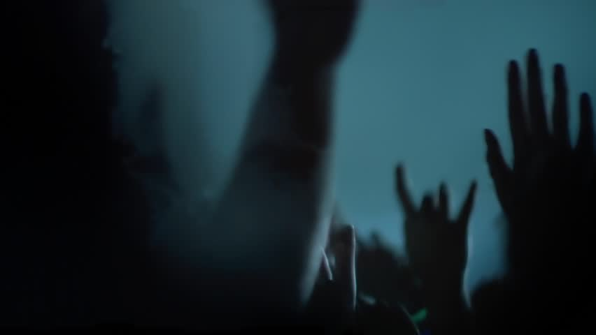 Hands in the air at a rock show - audience perspective | Shutterstock HD Video #23856733