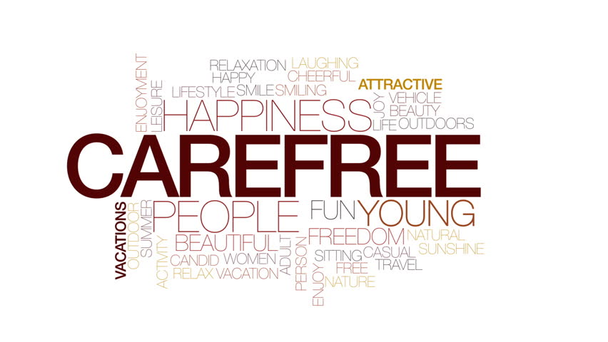 Carefree Animated Word Cloud Text Design Animation Kinetic Typography
