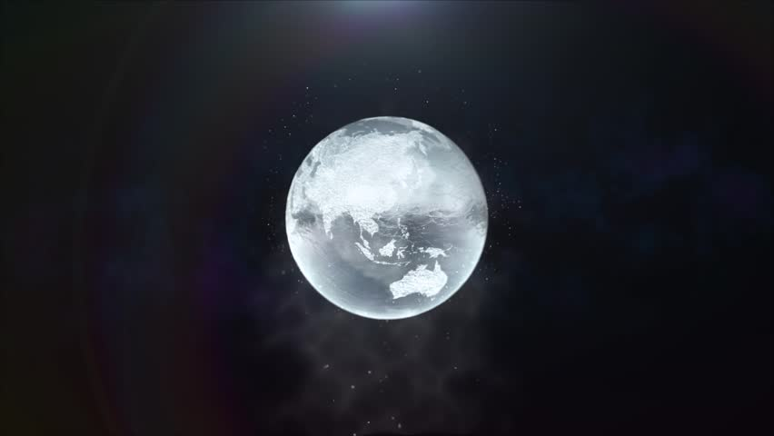 3D model of the Earth's ice.   Shutterstock HD Video #23882023