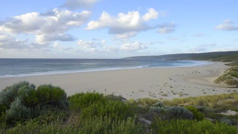 People Empty Beach At Indian Ocean Smiths Yallingup Naturaliste West Australia