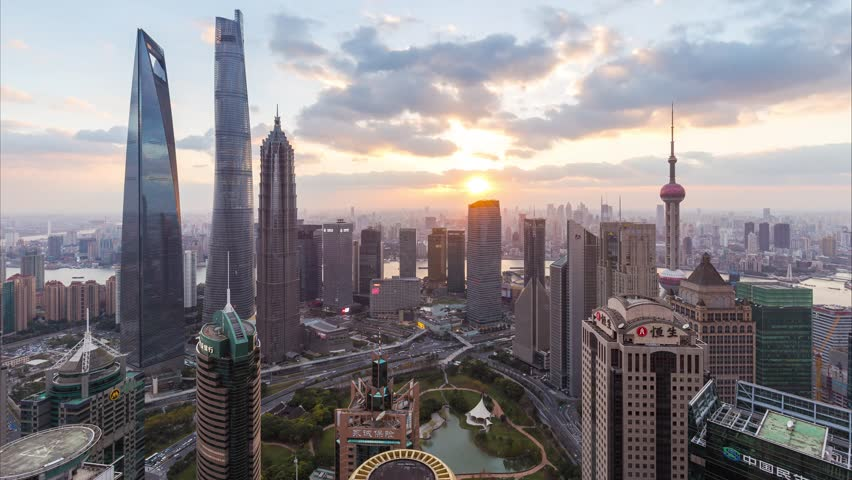 Day to night time lapse of Shanghai skyline and cityscape  | Shutterstock HD Video #23977903