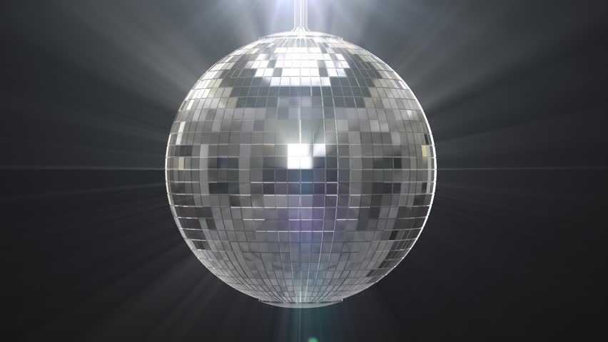 Mirror Ball Reflects White Light Disco Ball With