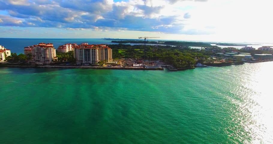 South Beach, Miami Beach, South Pointe Park, Government Canal. Florida.