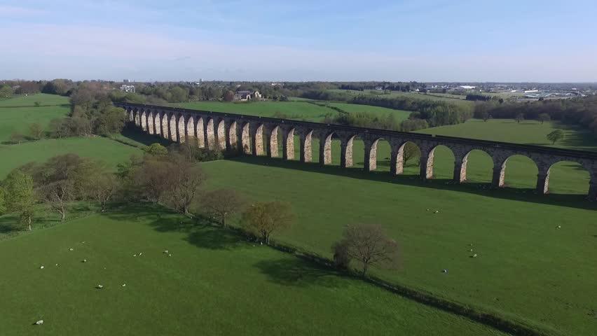 Aerial shot of Viaduct, UK