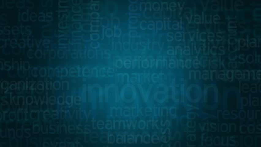 word cloud with terms about modern business