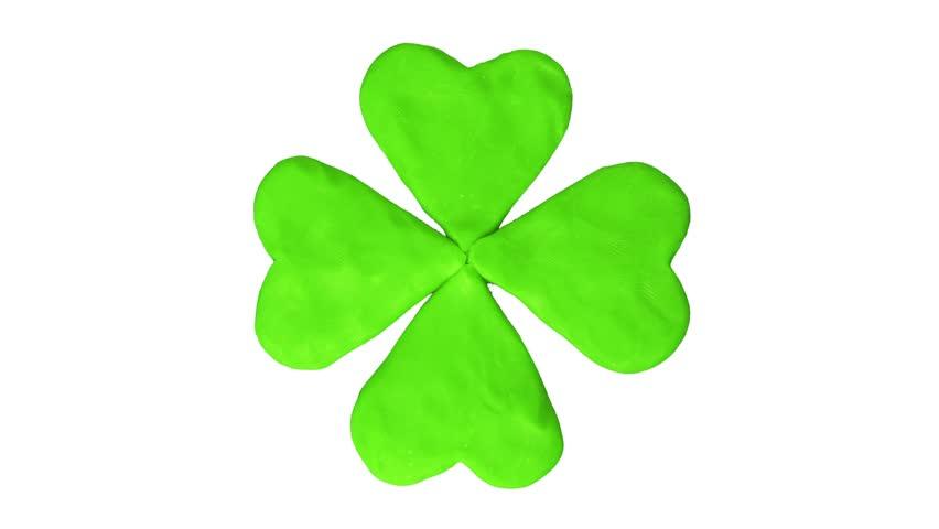 Clover four leaf. St. Patrick's day. Alpha matte #24079609