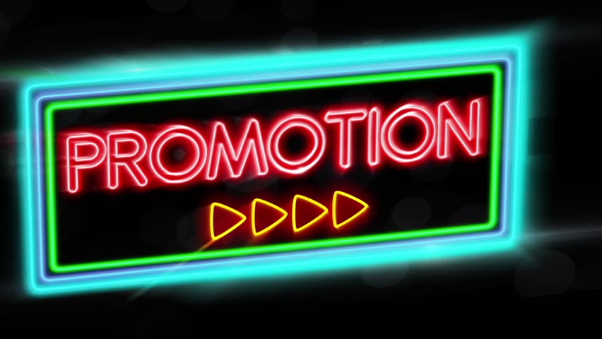 Promotion - Flashing vibrant colorful neon board background | Shutterstock HD Video #24086968