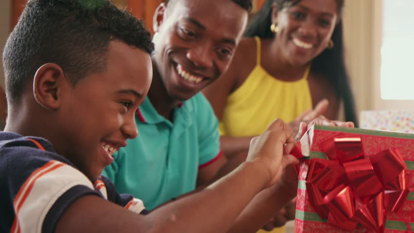 Happy Black Family At Home African American Father -5976