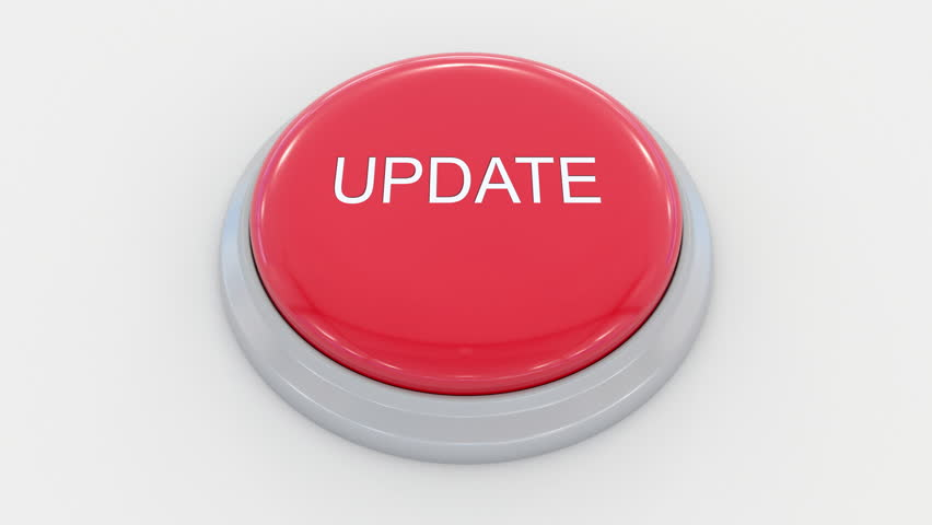 Pushing big red button with update inscription. Conceptual 4K clip | Shutterstock HD Video #24200092