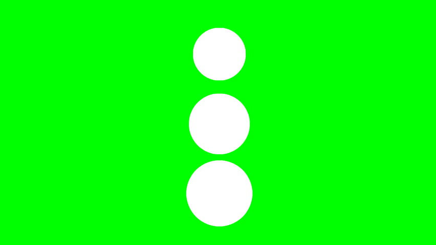 A loader - spinner animation: vertical spheres growing and shrinking, looking like a snowman. Use: fake mock video buffering / loading. Green background.  | Shutterstock HD Video #24223453